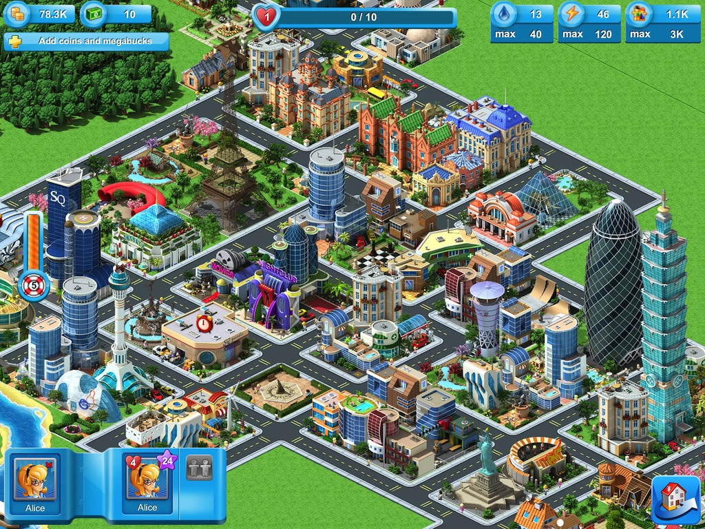 digital town planning game