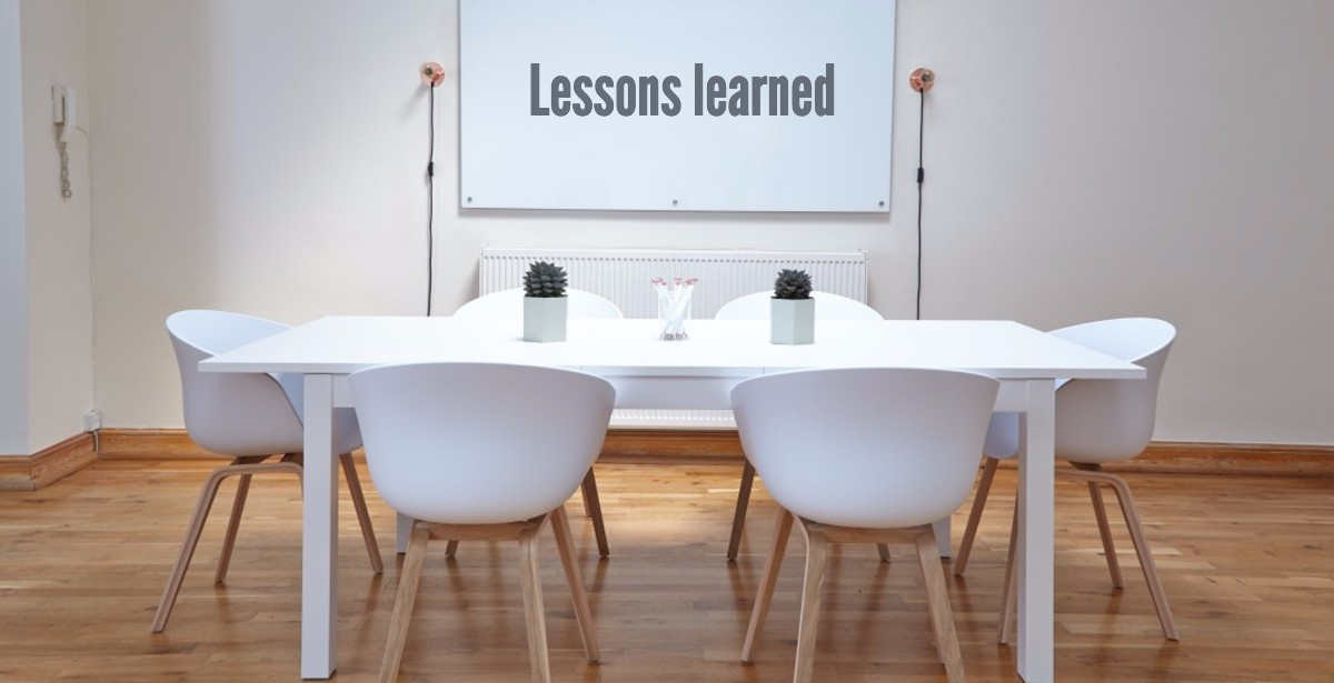 lessons learned software development