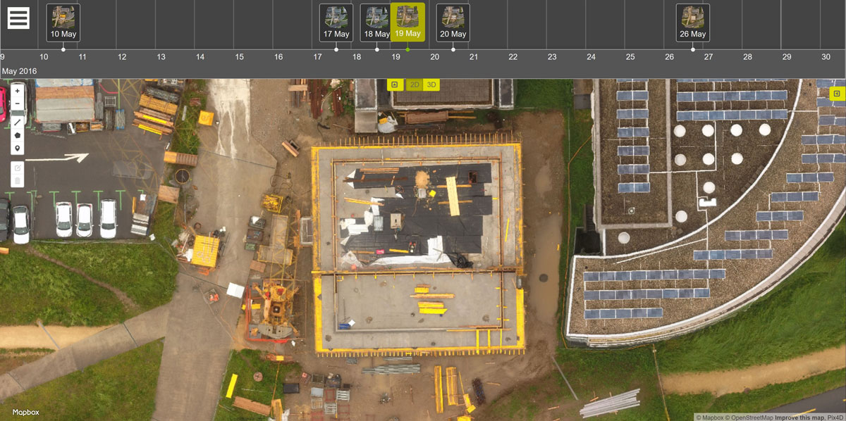 A New Perspective on Mapping Construction Sites with the Crane