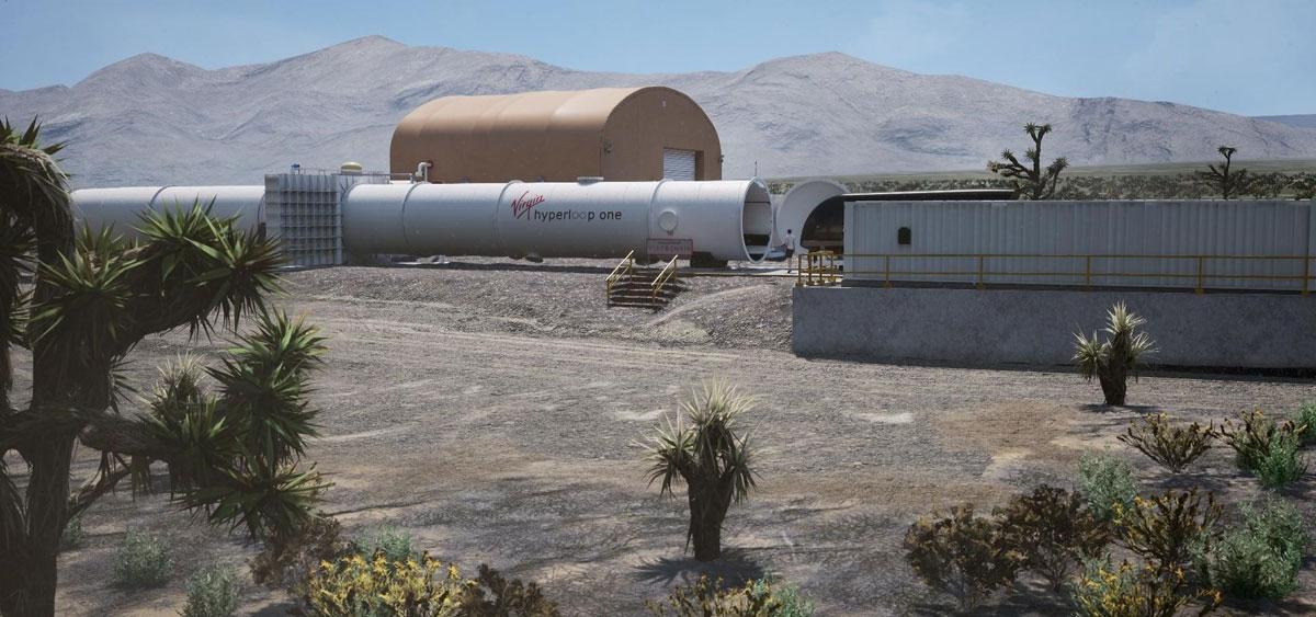 The Virgin Hyperloop One test site simulation