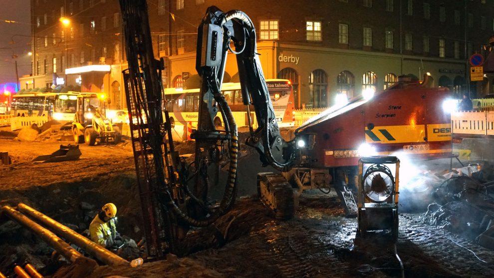 helsinki street construction zero-emission