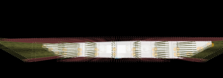 Section view of longitudinal bridge rebar